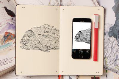 *終了しました【フェア・イベント】ノートに描いた絵をリアルタイムでデジタル化「Moleskine Adobe Paper Tablet」発売記念フェア in SPBS