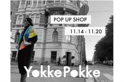 【フェア】カラフルな新作アイテムで冬支度〈YokkePokke〉POP UP SHOP