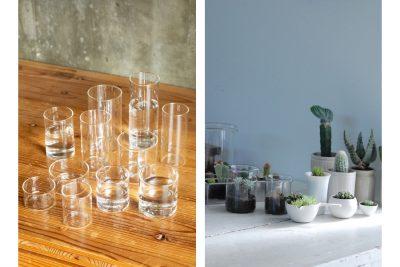 【フェア】美しくシンプルな耐熱グラス<br />インドのガラスと植物のある暮らしフェア@SPBS本店